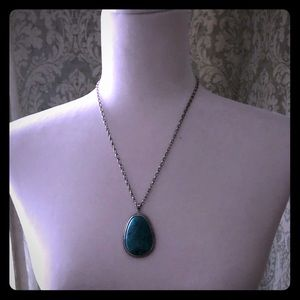 Jewelry - Turquoise necklace and pierced earrings.